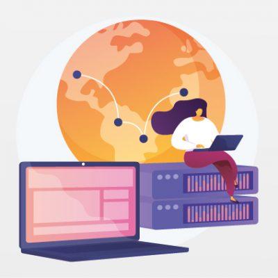 Abbildung der Funktion eines Proxy-Servers